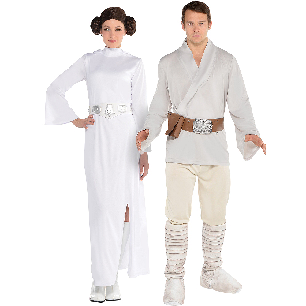 Adult Luke Skywalker Princess Leia Couples Costumes Star Wars
