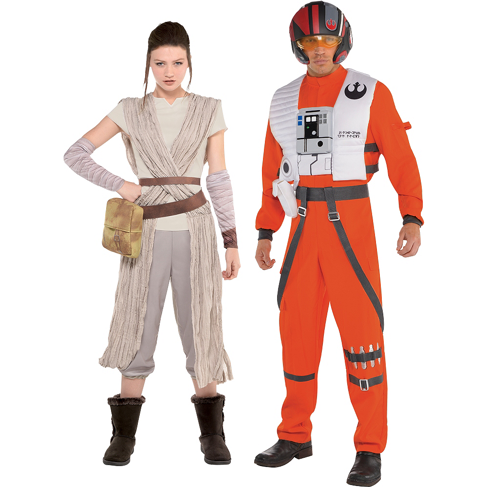 Adult Poe Dameron Rey Couples Costumes