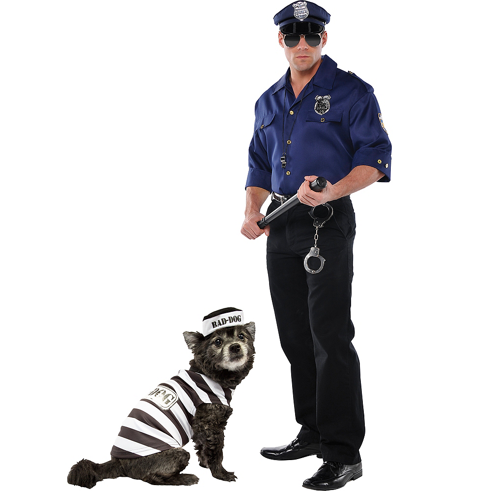 Adult Police & Bad Dog Prisoner Doggy & Me Costumes Image #1