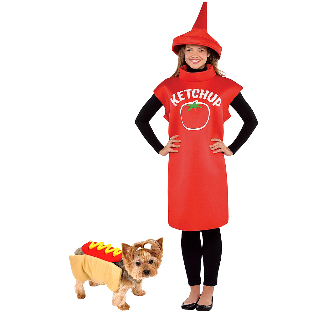 Adult Ketchup & Hot Dog Doggy & Me Costumes Image #1