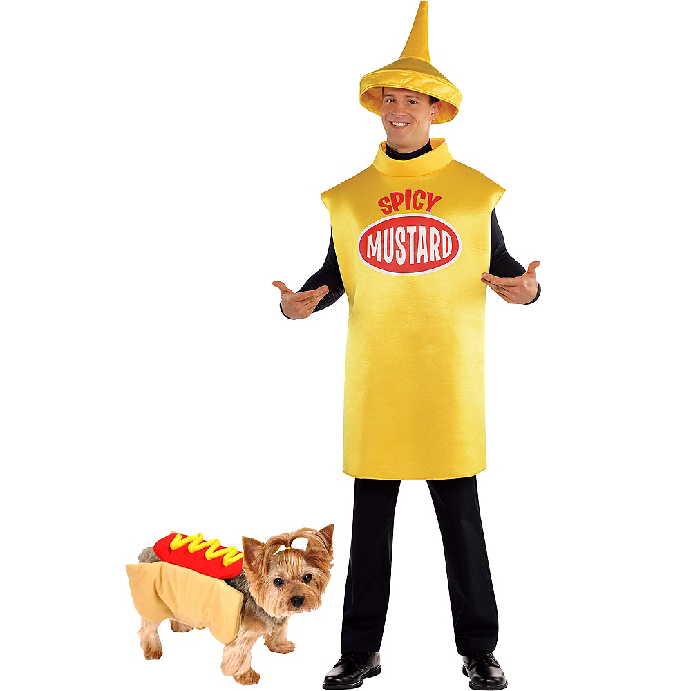 Adult Spicy Mustard & Hot Dog Doggy & Me Costumes Image #1