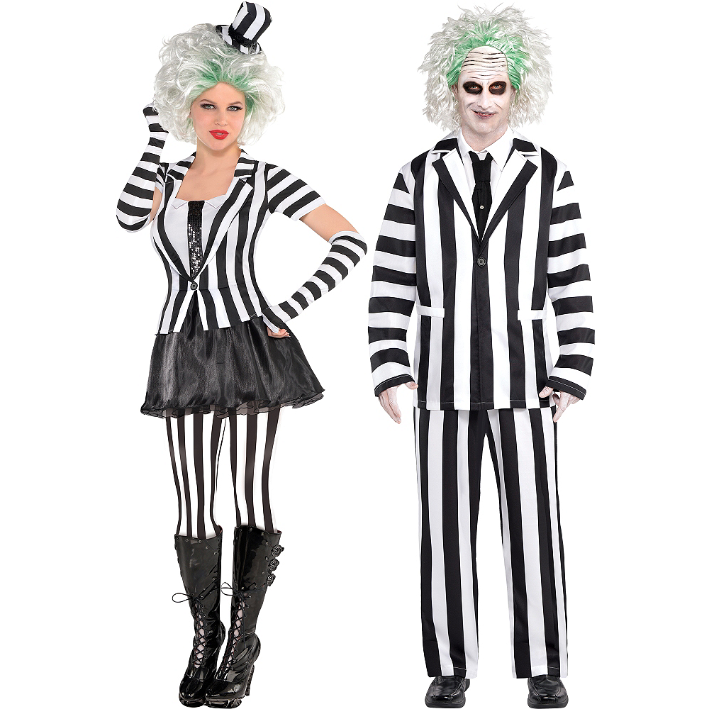 adult beetlejuice mrs beetlejuice couples costumes image 1