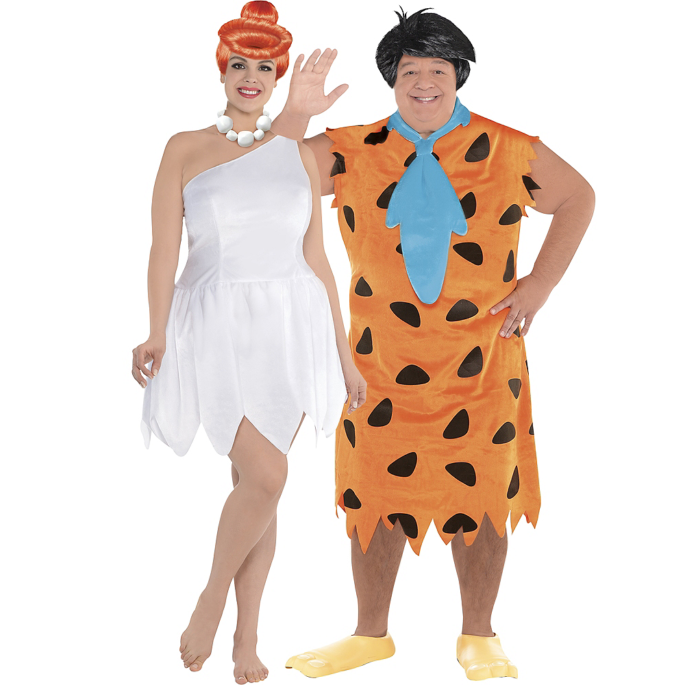 Adult Wilma & Fred Couples Costumes Plus Size - The Flintstones Image #1