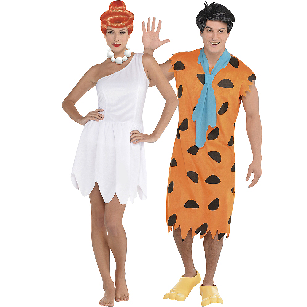 Adult Wilma Flintstone & Fred Flintstone Costumes - The Flintstones Image #1
