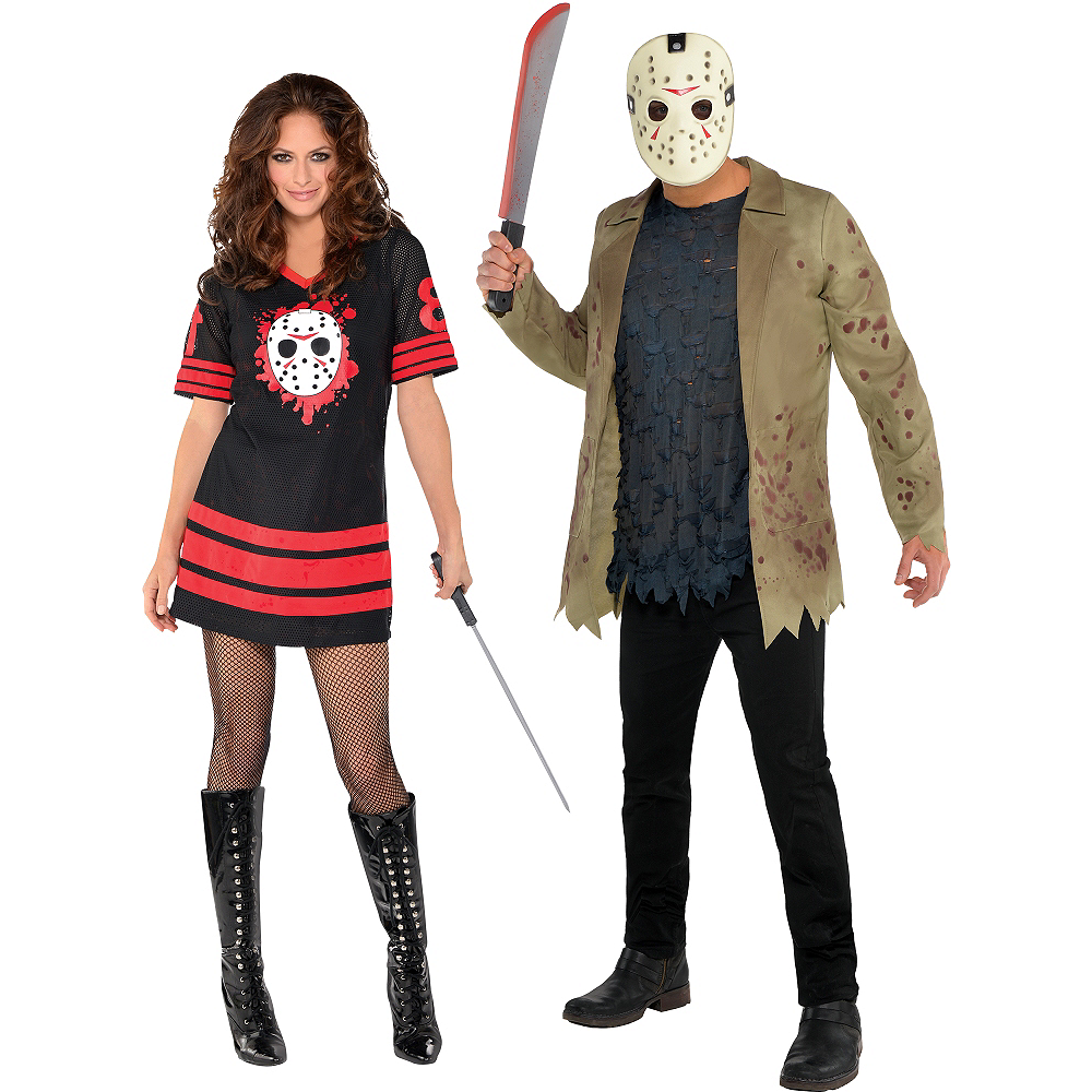 Halloween Costume Jason Friday 13th.Adult Friday The 13th Couples Costumes