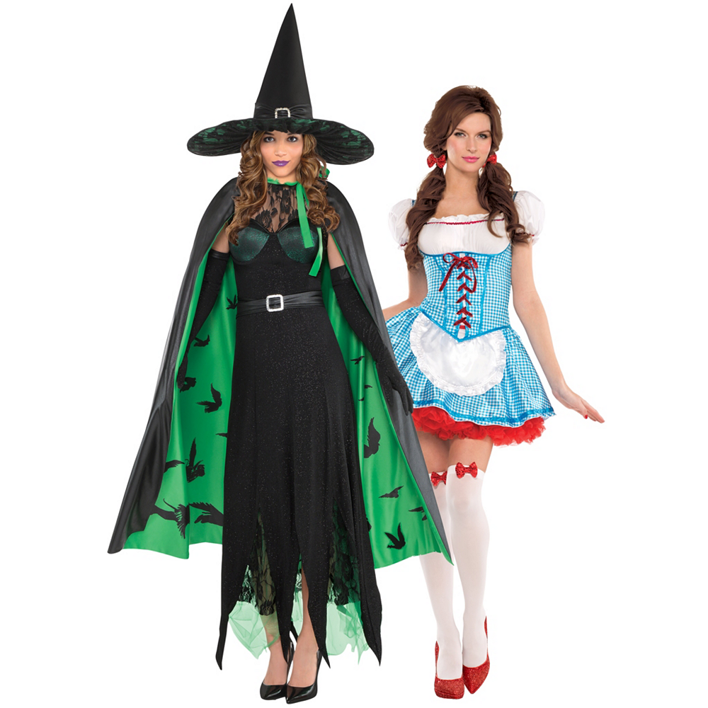 Women's Dorothy & The Wicked Witch Couples Costumes - Wizard of Oz Image #1