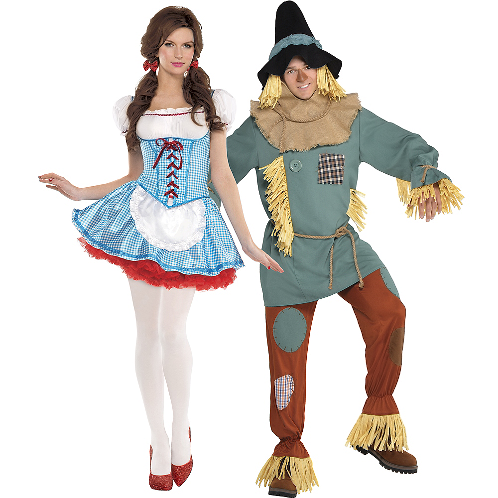 Adult Dorothy & Silly Scarecrow Couples Costumes - Wizard of Oz Image #1