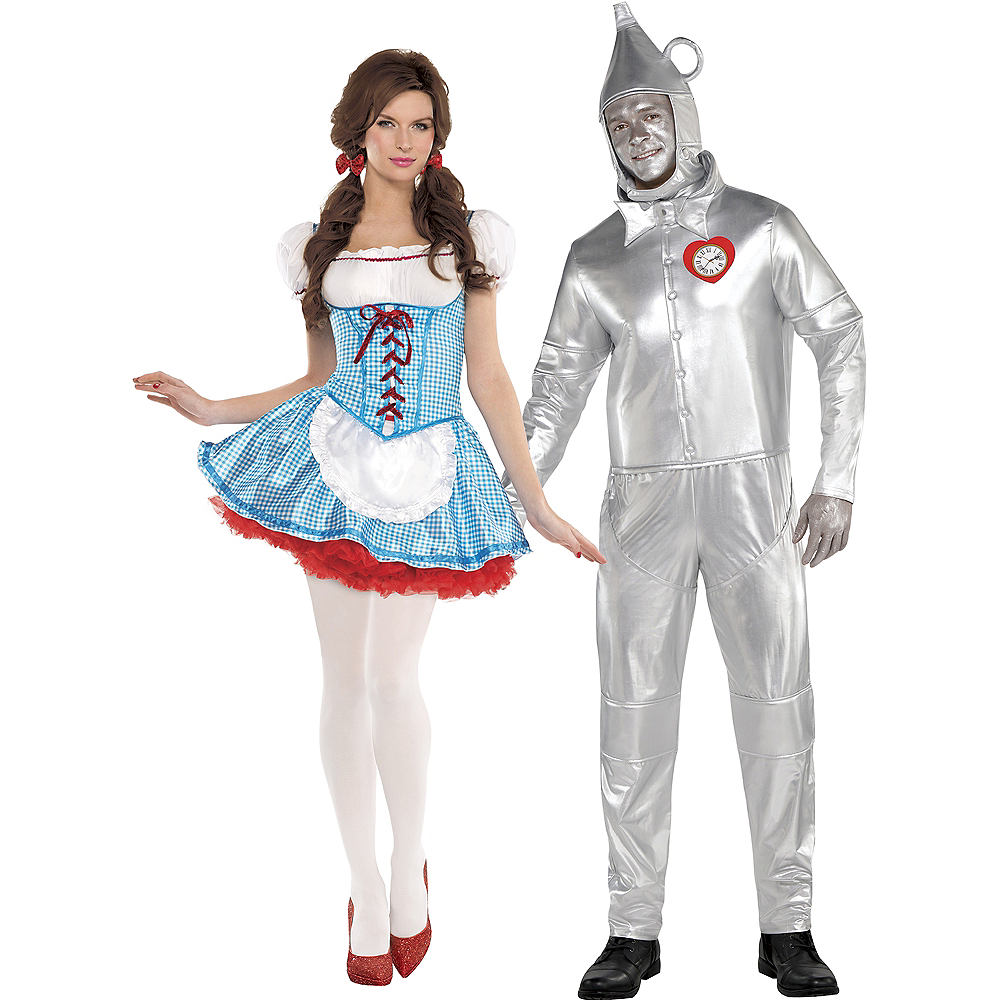 Adult Dorothy & Tin Man Couples Costumes - The Wizard of Oz Image #1