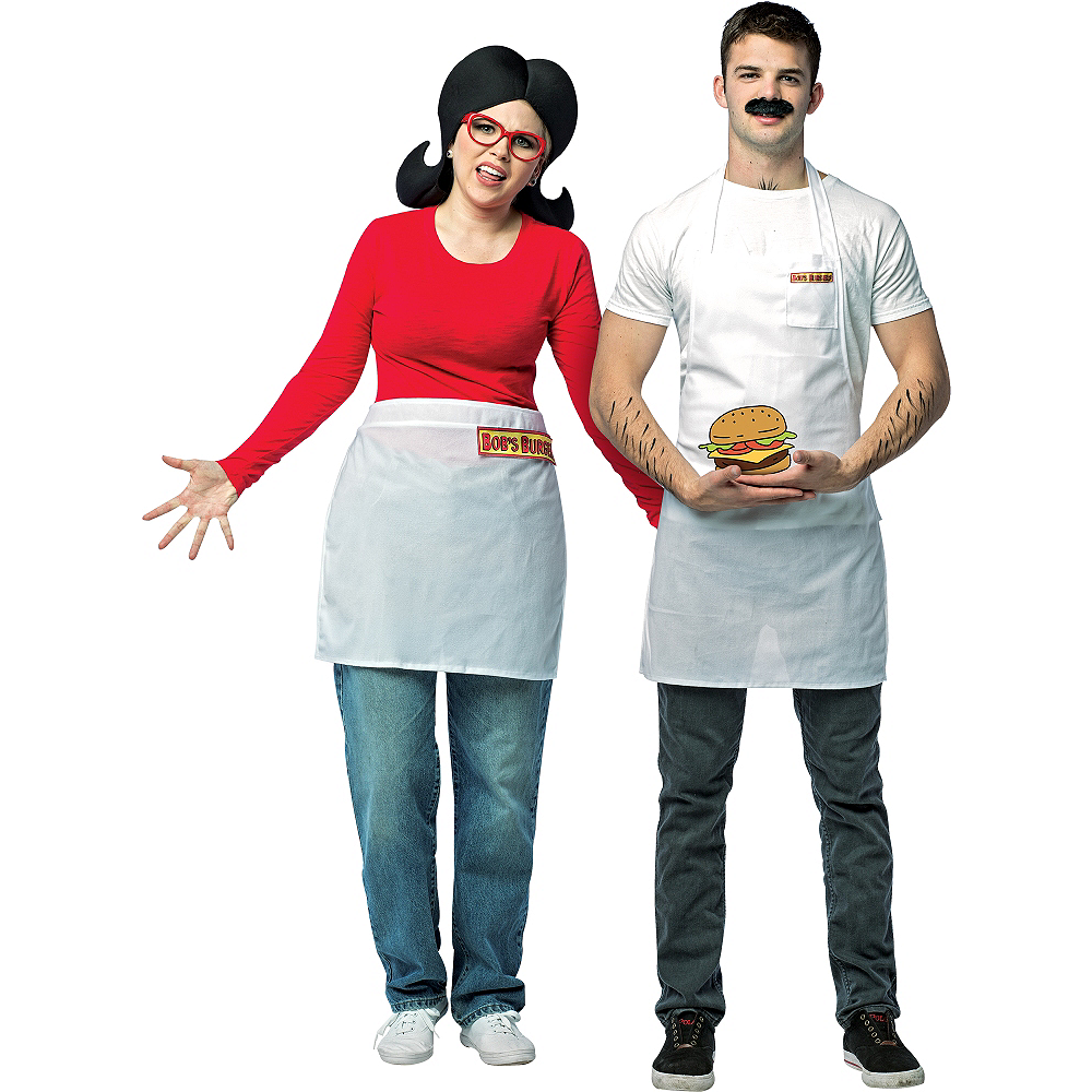 Nav Item for Adult Bob Belcher & Linda Belcher Couples Costumes - Bob's Burgers Image #1