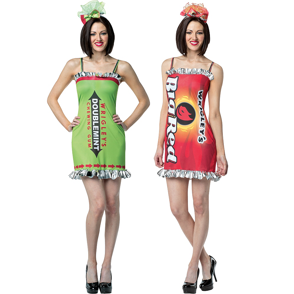 Adult Big Red & Doublemint Gum Couples Costumes Image #1