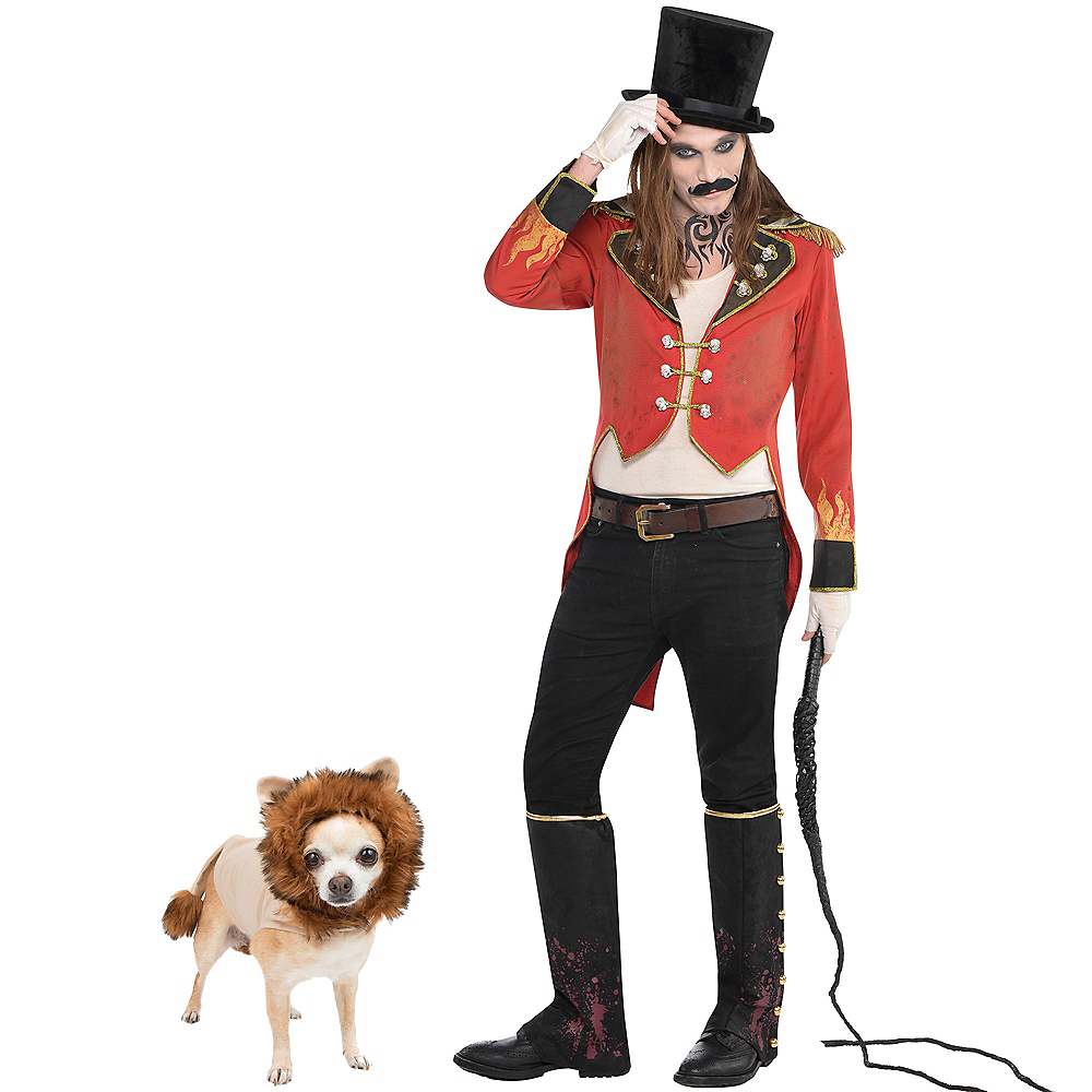 Nav Item for Adult Ringmaster & Lion Doggy & Me Costumes Image #1