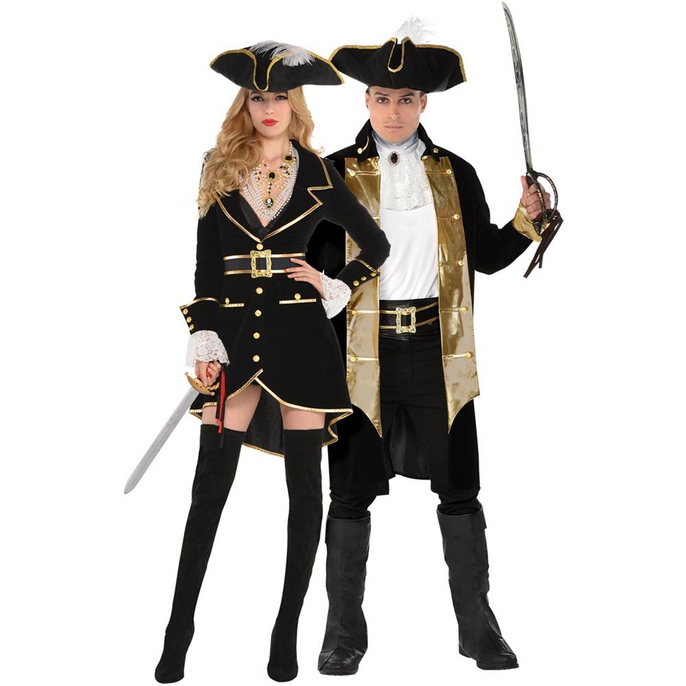 Adult Treasure Vixen Pirate & Treasure Captain Pirate Couples Costumes Image #1