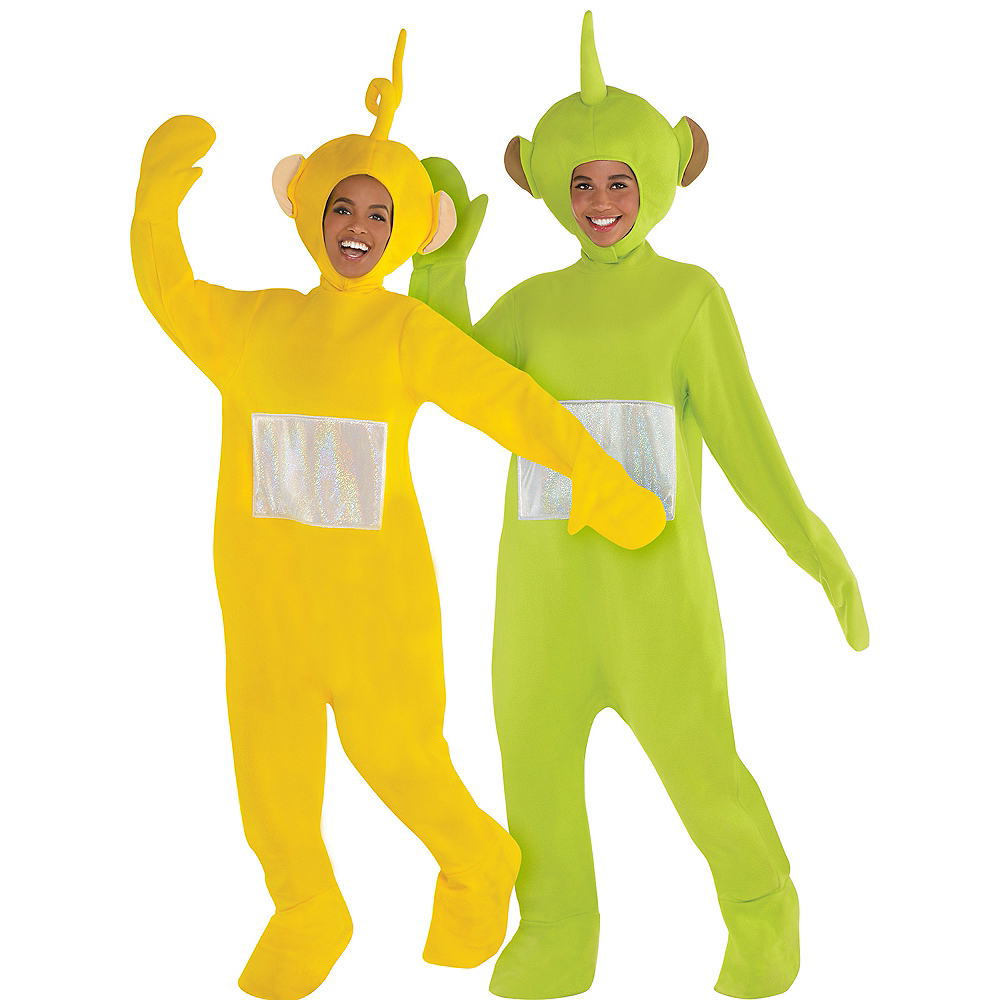 Adult Laa Laa & Dispy Couples Costumes - Teletubbies Image #1