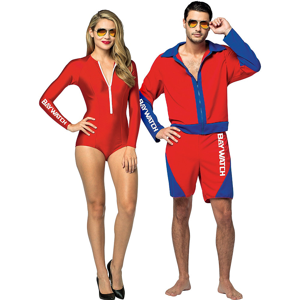 Adult Baywatch Babe & Baywatch Couples Costumes Image #1