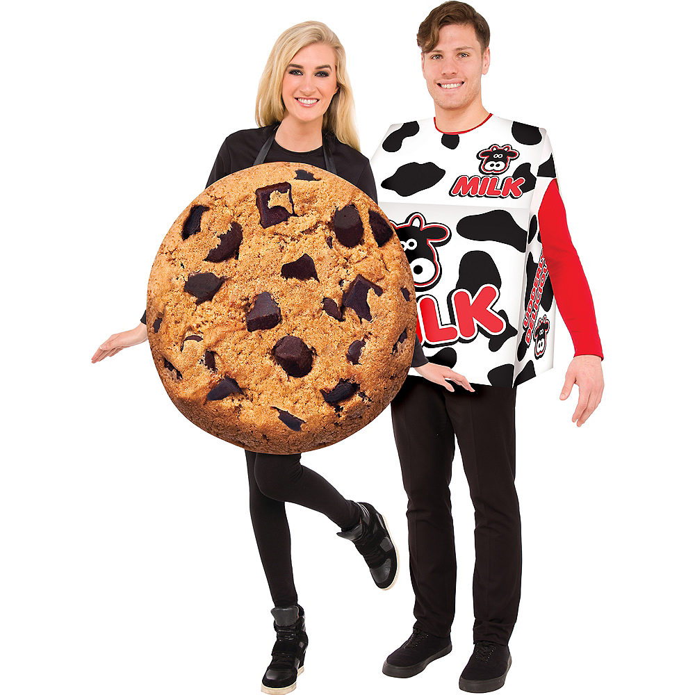 Adult Cookie & Milk Box Couples Costumes Image #1