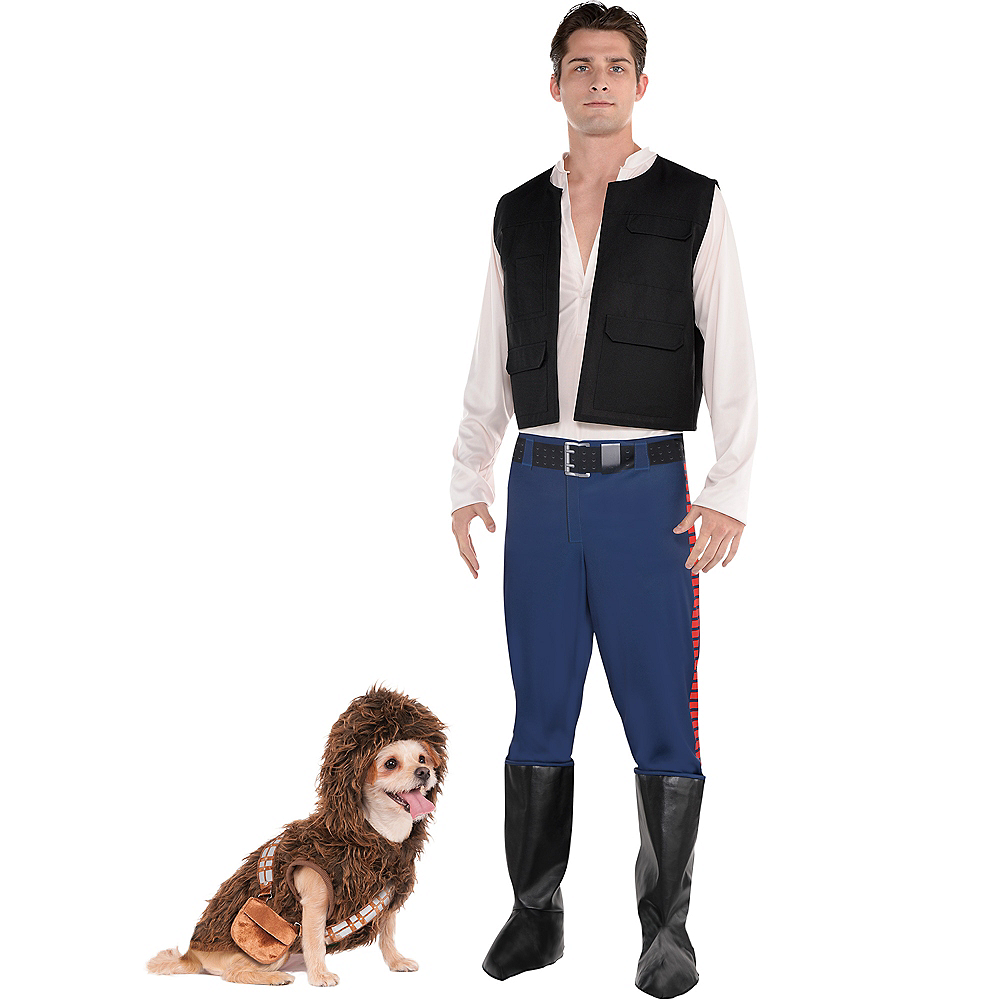 Adult Han Solo & Chewbacca Doggy & Me Costumes - Star Wars Image #1