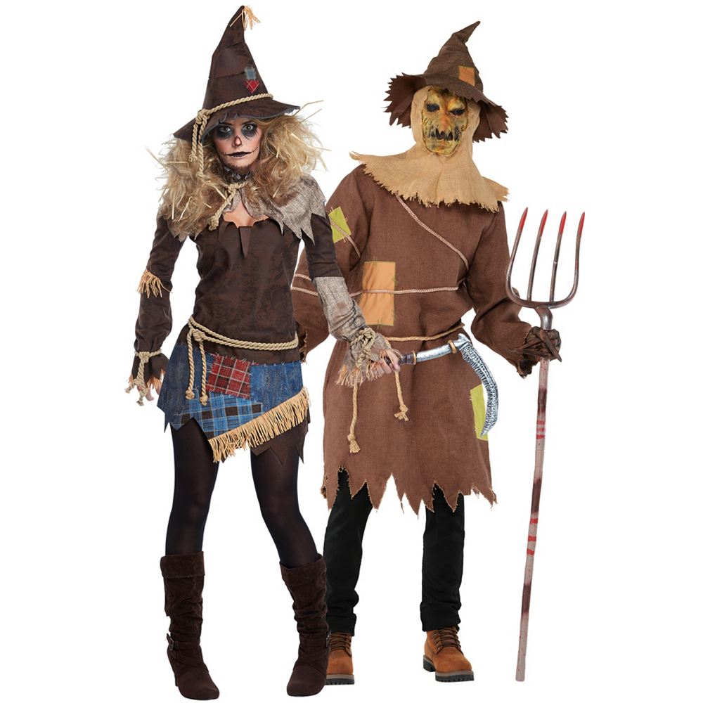 Adult Scarecrow Couples Costumes Image #1