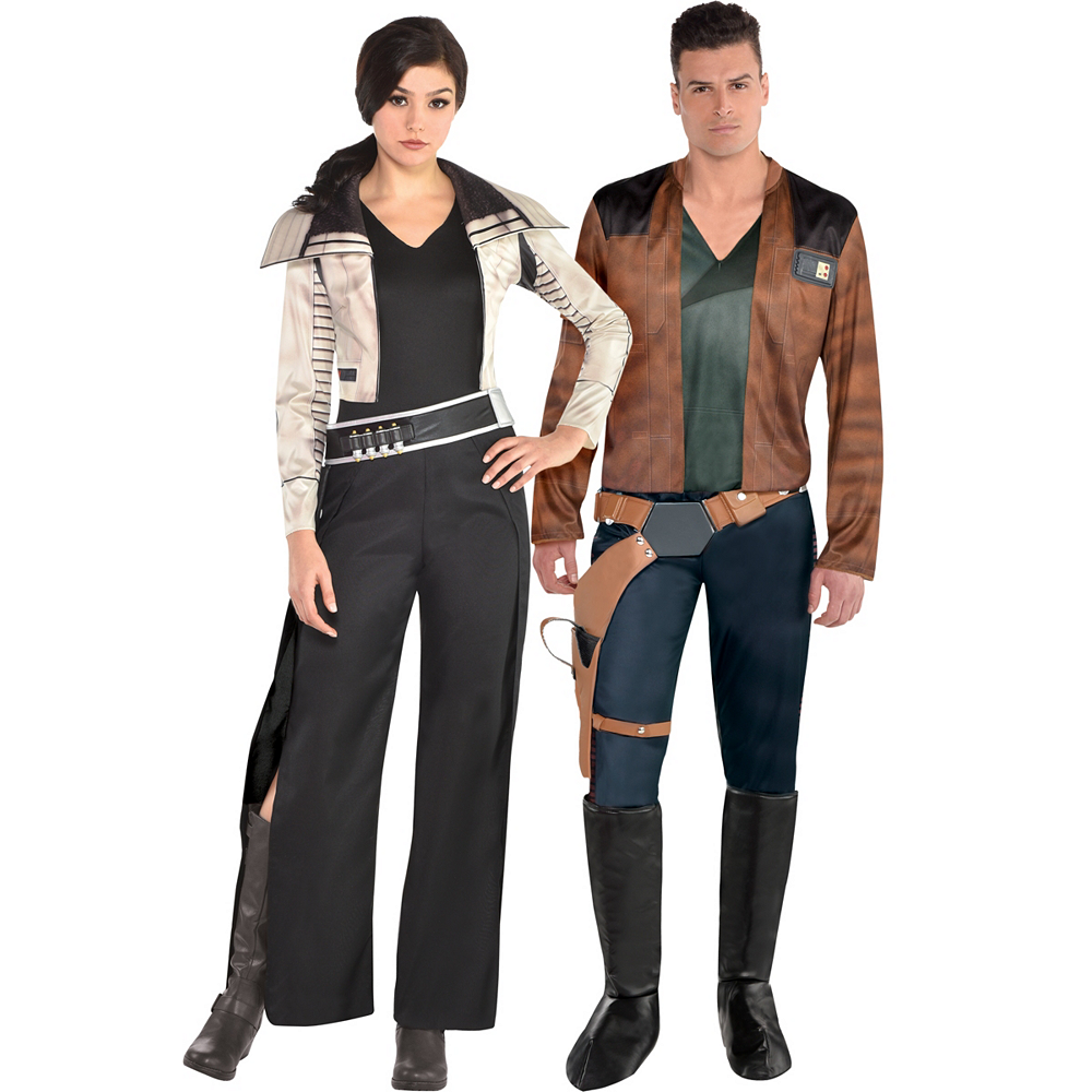 Adult Qi'ra & Han Solo Couples Costumes - Solo: A Star Wars Story Image #1