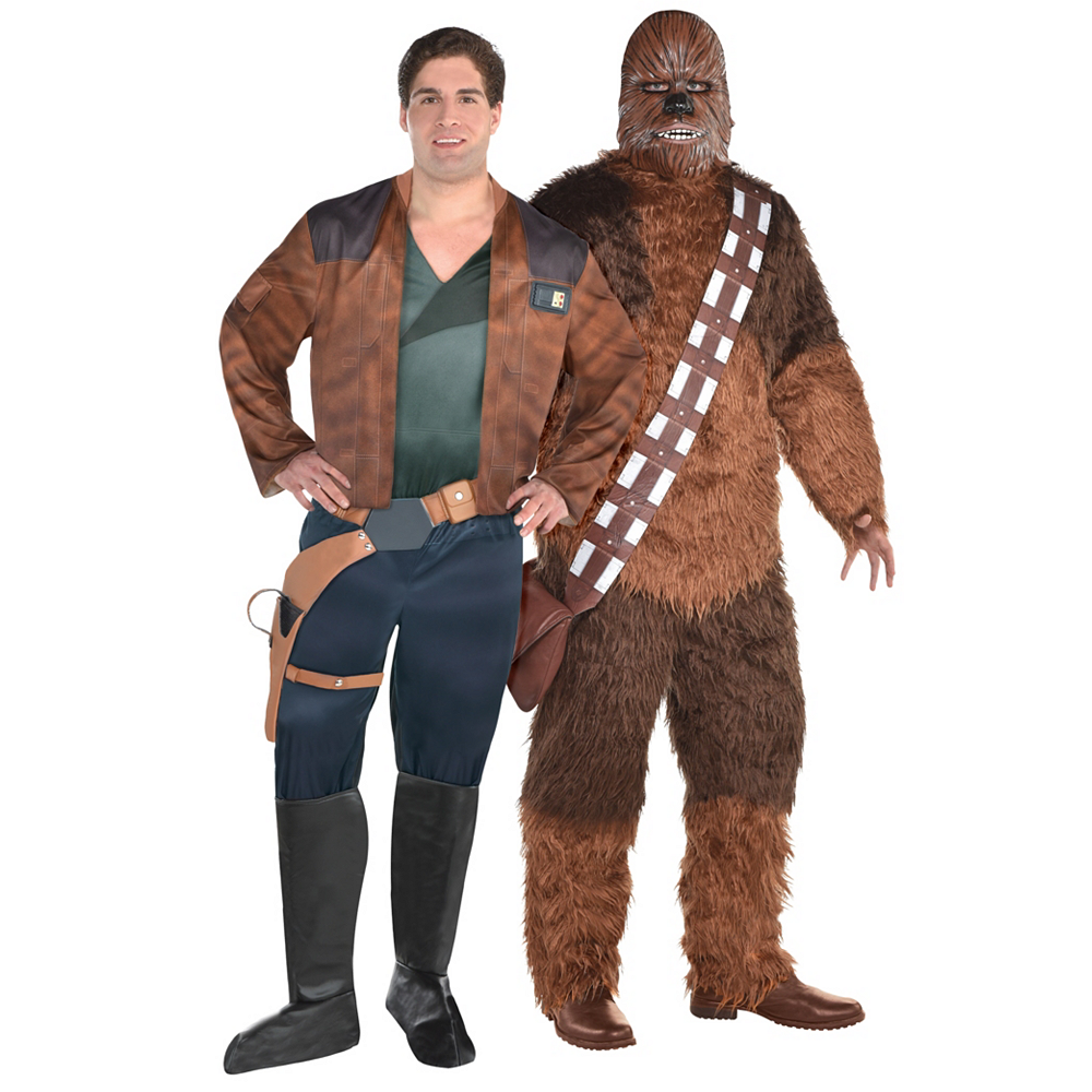Men's Han Solo & Chewbacca Couples Costumes Plus Size - Solo: A Star Wars Story Image #1