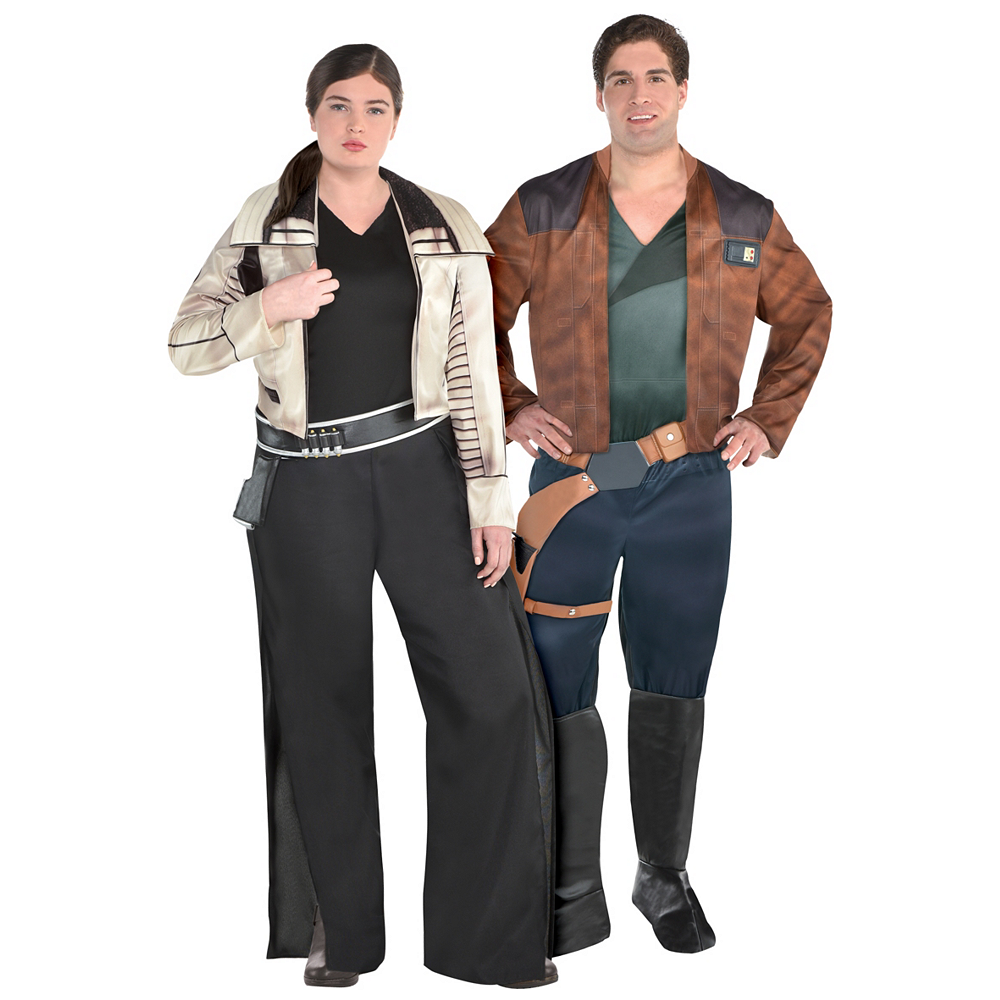 Adult Qi'ra & Han Solo Couples Costumes Plus Size - Solo: A Star Wars Story Image #1