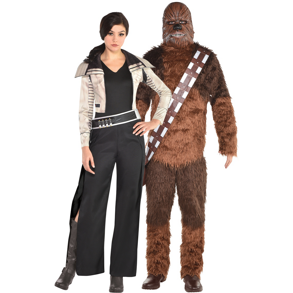 Adult Qi'ra & Chewbacca Couples Costumes - Solo: A Star Wars Story Image #1