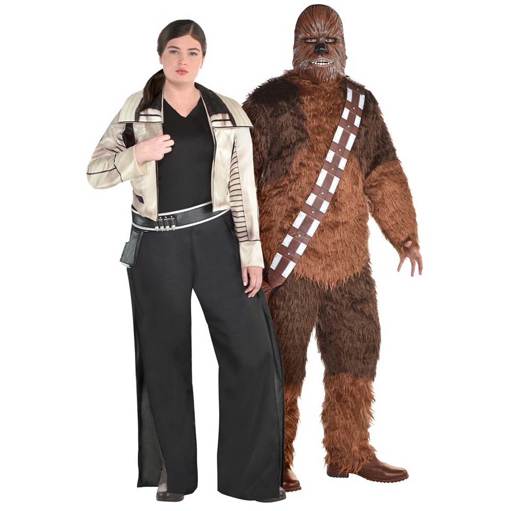 Adult Qi'ra & Chewbacca Couples Costumes Plus Size - Solo: A Star Wars Story Image #1