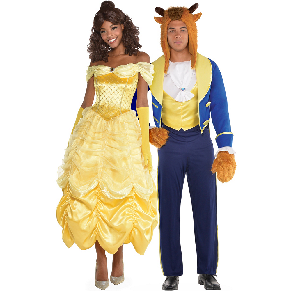 dc445fecb7 Adult Beauty & The Beast Couples Costumes - Beauty and the Beast