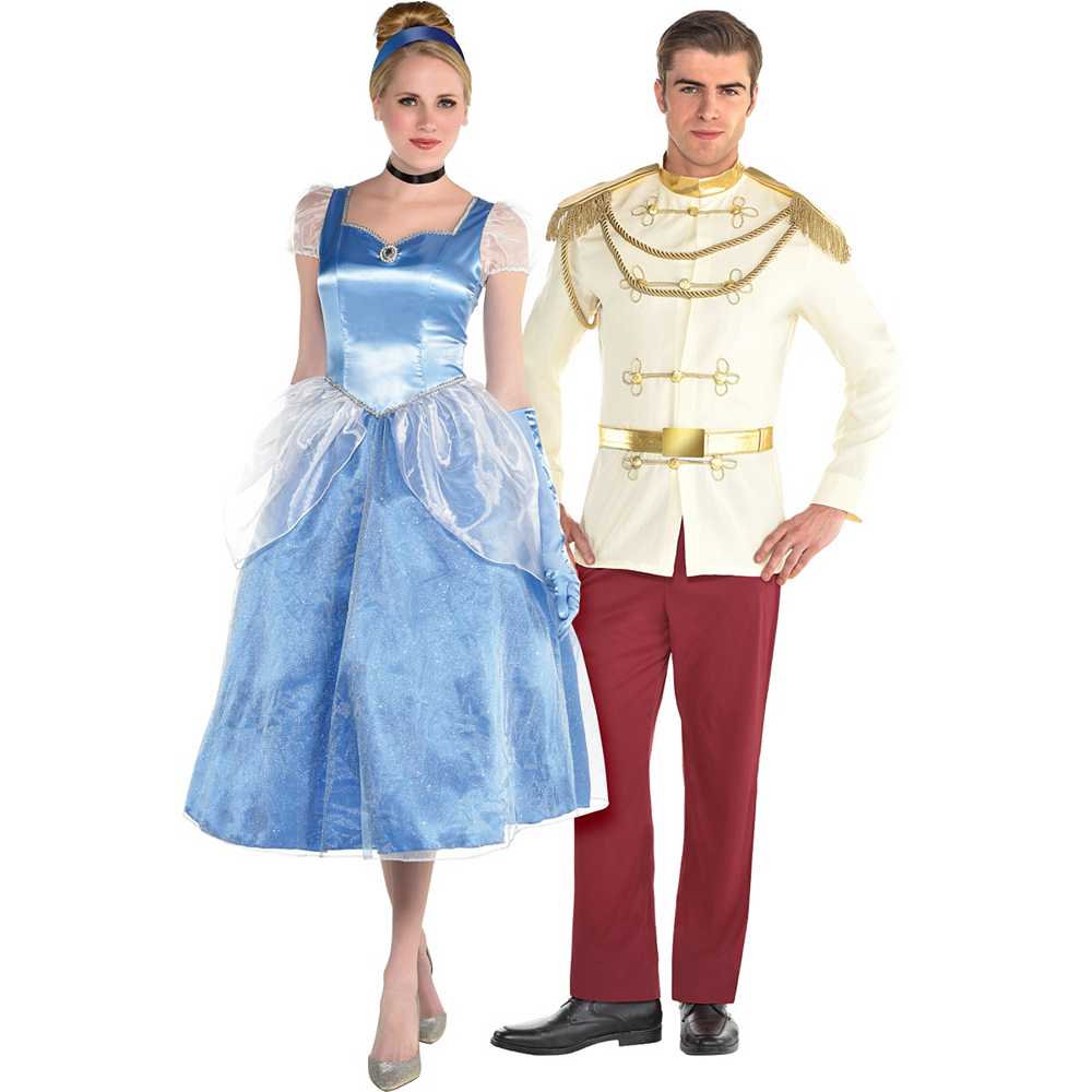 Nav Item for Adult Cinderella & Prince Charming Couples Costumes - Cinderella Image #1