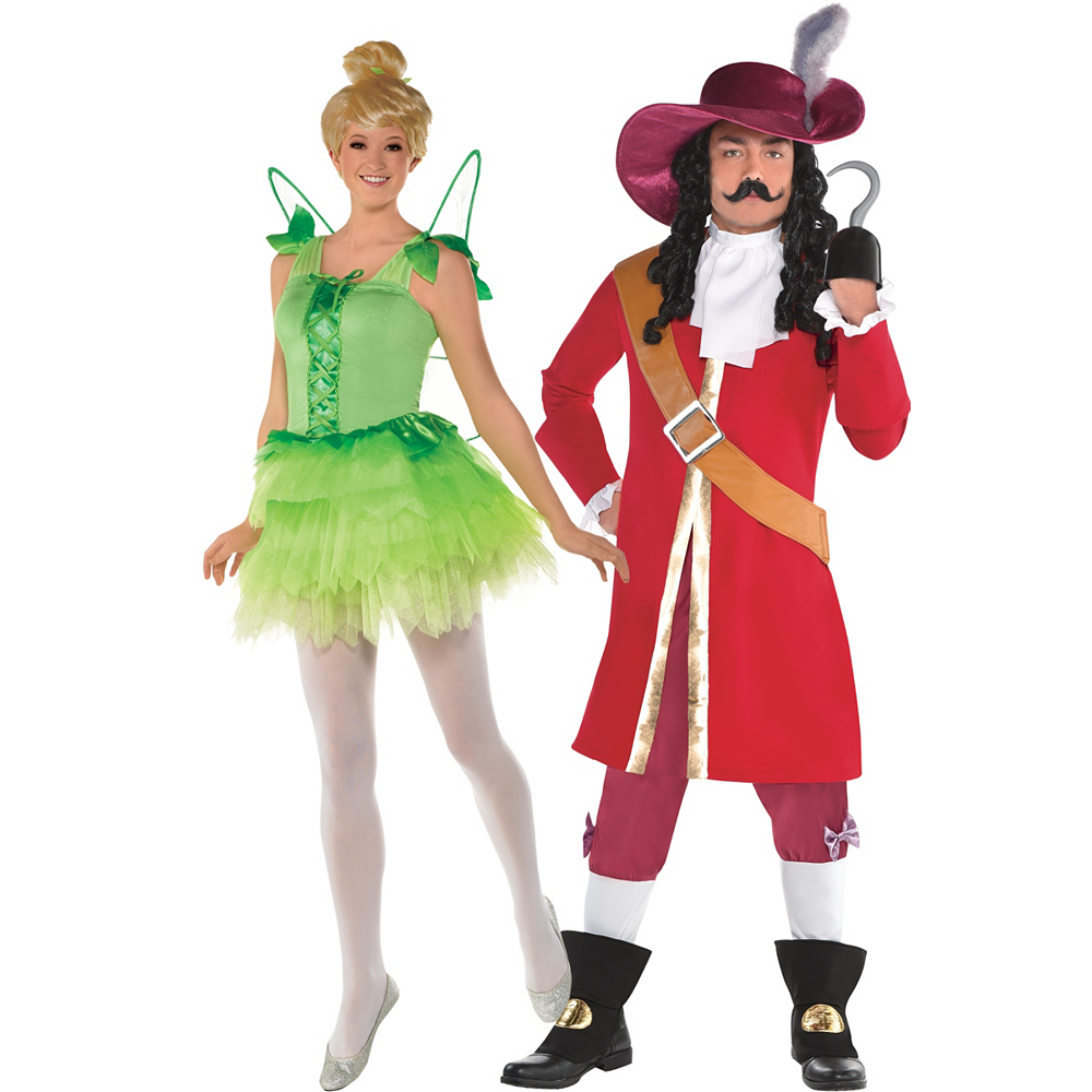 9024133b2 Adult Tinker Bell & Captain Hook Couples Costumes - Peter Pan