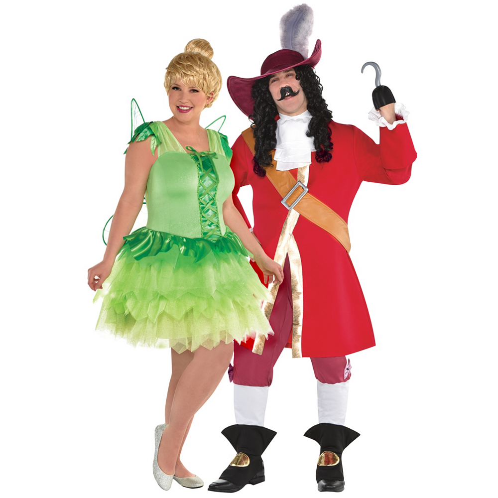 special section new arrival brand new Adult Tinker Bell & Captain Hook Couples Costumes Plus Size - Peter Pan