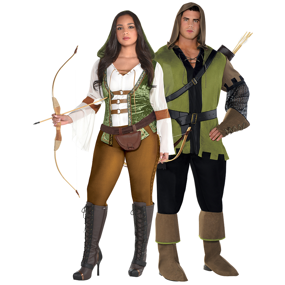 Adult Robin Hood Couples Costumes Plus Size Image #1