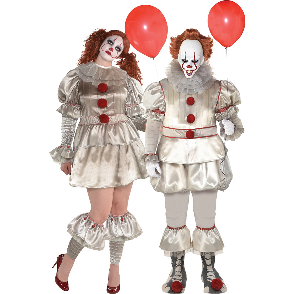 Adult Pennywise Couples Costumes Plus Size - It Image #1