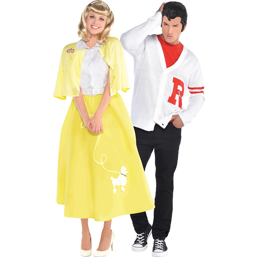 Nav Item for Adult Sandy Olsson Summer Nights & Rydell High Jock Couples Costumes - Grease Image #1