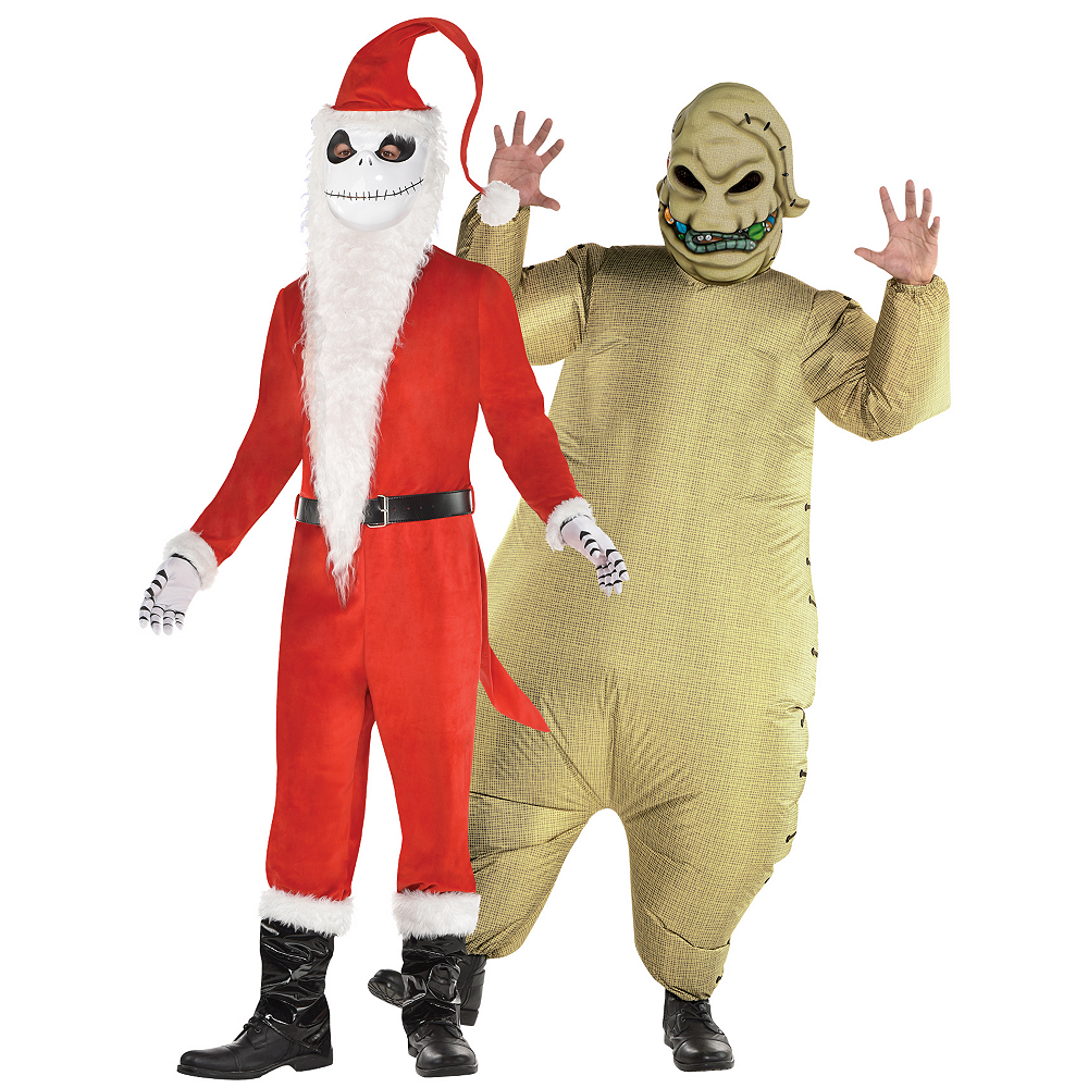 Men's Sandy Claws & Inflatable Oogie Boogie Couples Costumes - The Nightmare Before Christmas Image #1