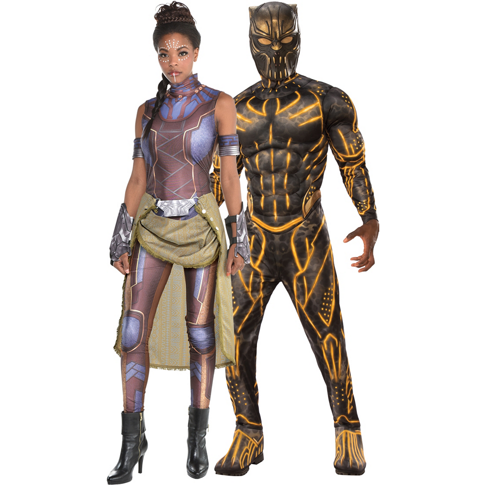 Nav Item for Adult Shuri & Killmonger Couples Costumes - Black Panther Image #1
