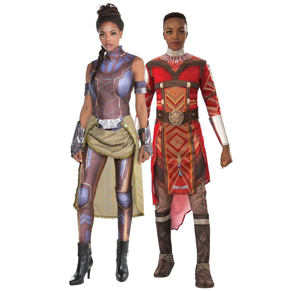 Women's Shuri & Dora Milaje Couples Costumes - Black Panther Image #1
