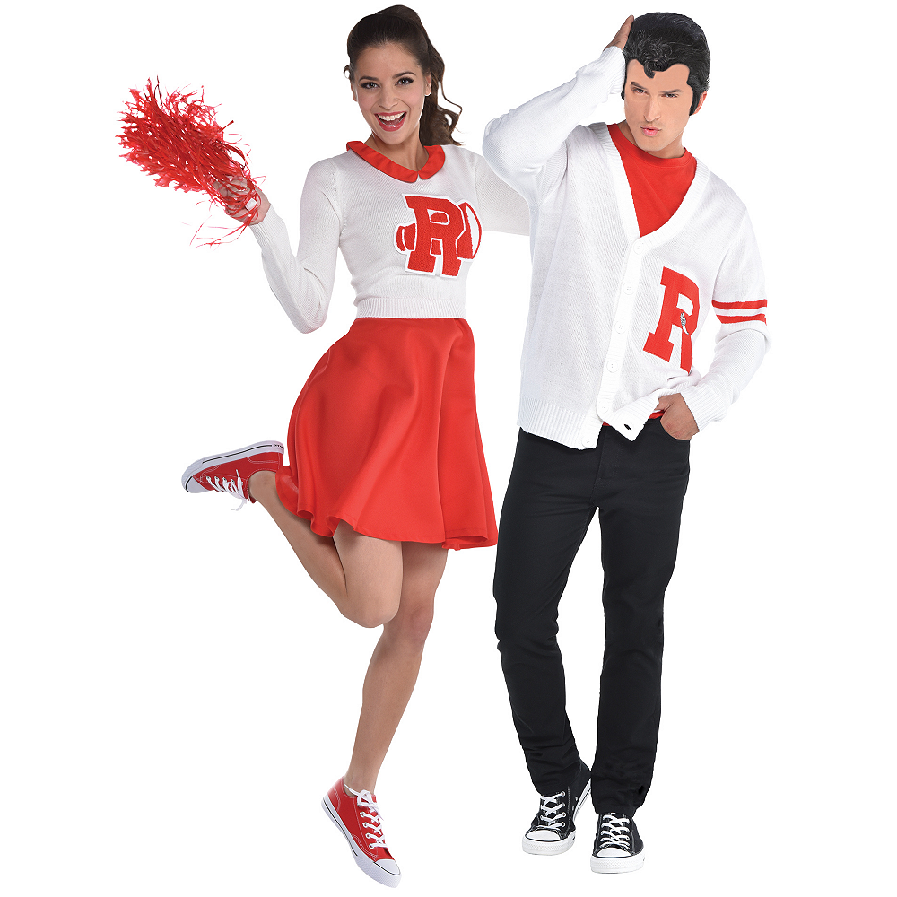 Adult Rydell High Cheerleader & Jock Couples Costumes - Grease Image #1