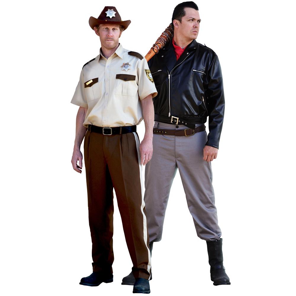 Men's Rick Grimes & Negan Couples Costumes - The Walking Dead Image #1