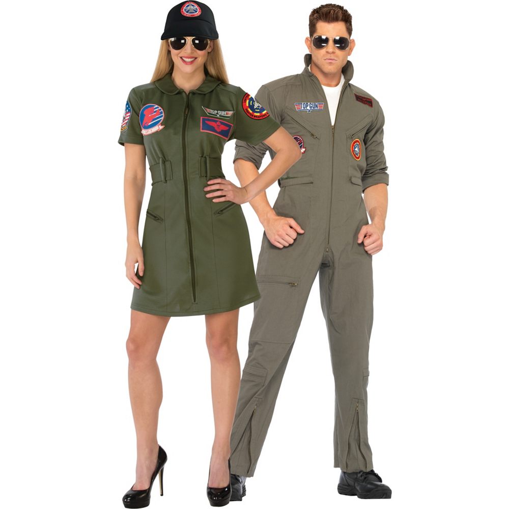 Adult Top Gun Couples Costumes Image #1