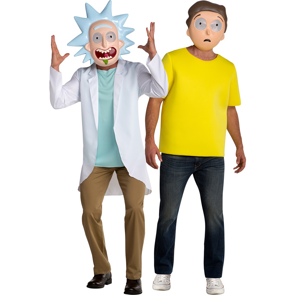 Men's Rick & Morty Couples Costumes - Rick and Morty Image #1