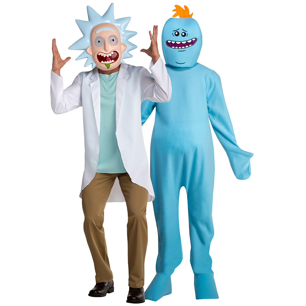 Adult Rick & Mr. Meeseeks Couples Costumes - Rick and Morty Image #1