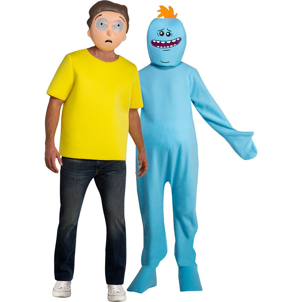 Nav Item for Adult Morty & Mr. Meeseeks Couples Costumes - Rick and Morty Image #1