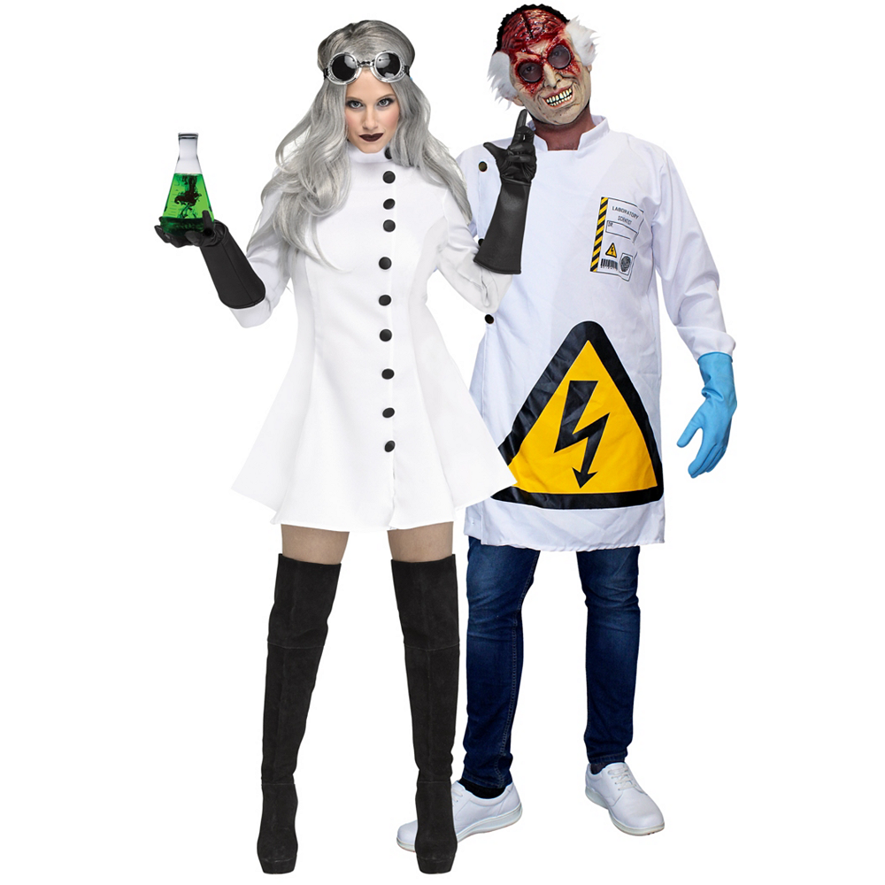 Adult Mad Scientists Couples Costumes Image #1