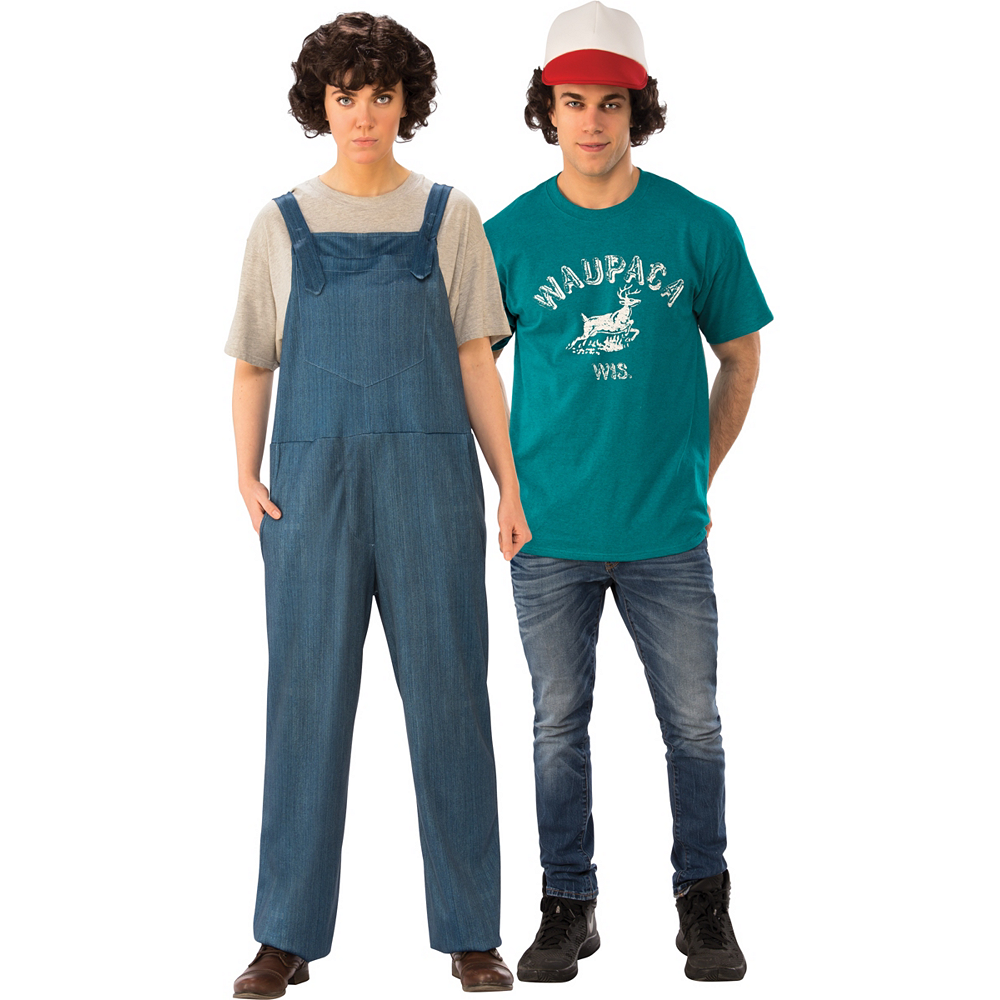 Adult Eleven Jumpsuit & Dustin Couples Costumes - Stranger Things Image #1
