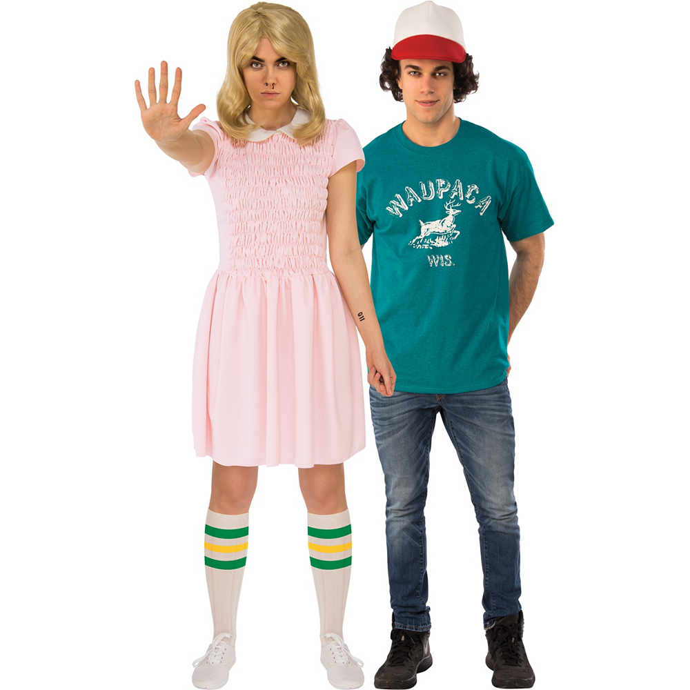 Adult Eleven Dress & Dustin Couples Costumes - Stranger Things Image #1