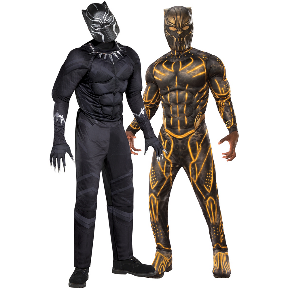 Men's Black Panther & Killmonger Muscle Couples Costumes - Black Panther Image #1