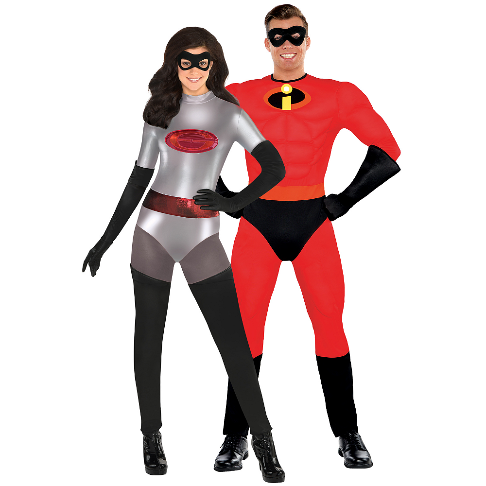 Adult Elastigirl & Mr. Incredible Couples Costumes - Incredibles 2 Image #1