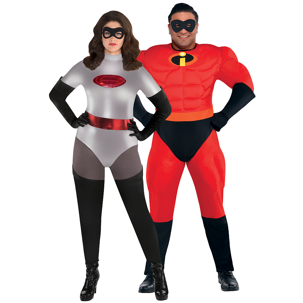 Nav Item for Adult Elastigirl & Mr. Incredible Couples Costumes Plus Size - Incredibles 2 Image #1