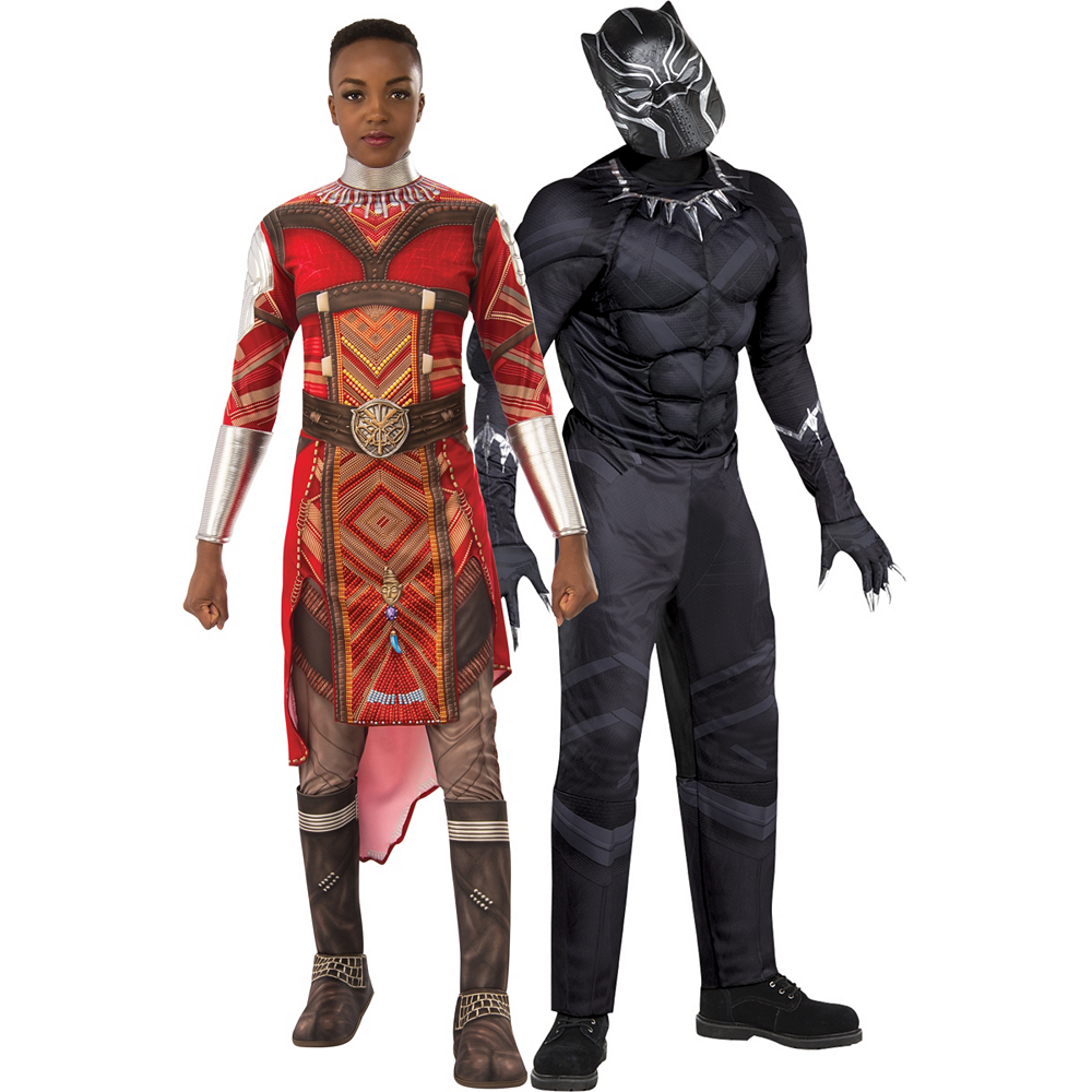 Adult Dora Milaje & Muscle Black Panther Couples Costumes - Black Panther Image #1