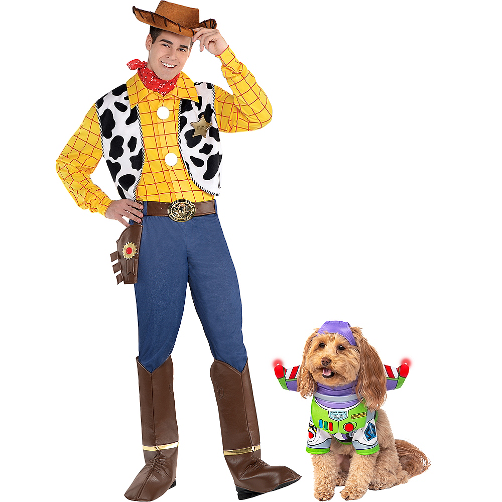 Adult Woody & Buzz Lightyear Doggy & Me Costumes - Toy Story Image #1